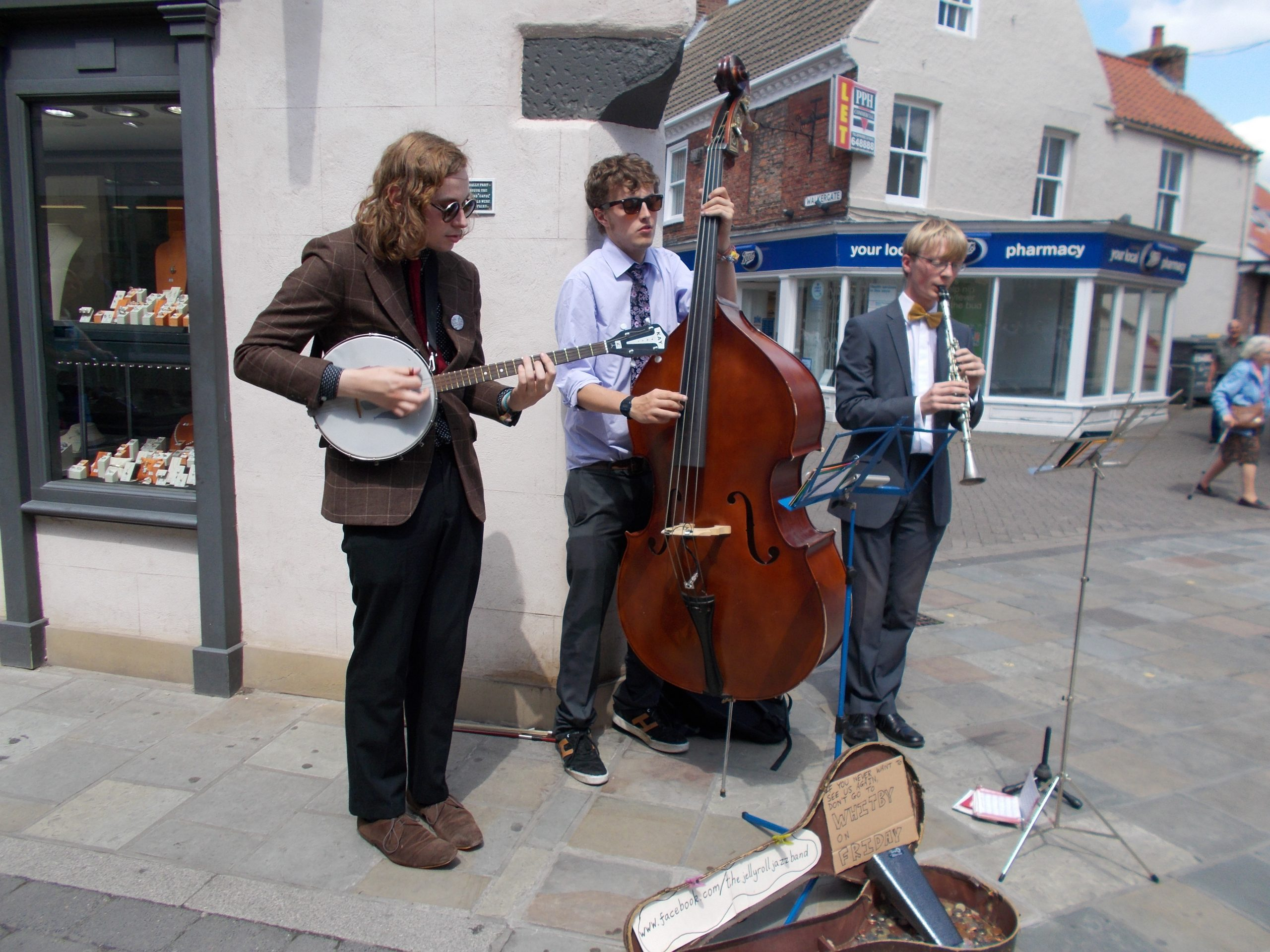 The Jelly Roll Jazz Band busking in Beverley, 2015
