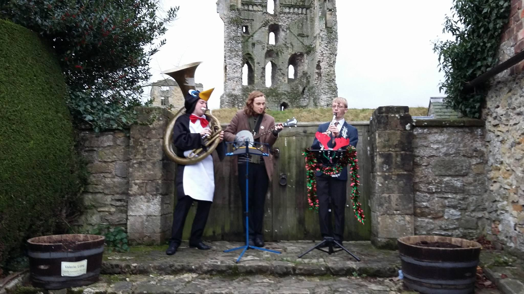 The Jelly Roll Jazz Band performing at Helmsley Small Business Saturday, December 2015