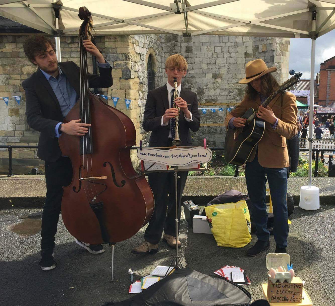 The Jelly Roll Jazz Band performing at Malton Harvest Food Festival, September 2017