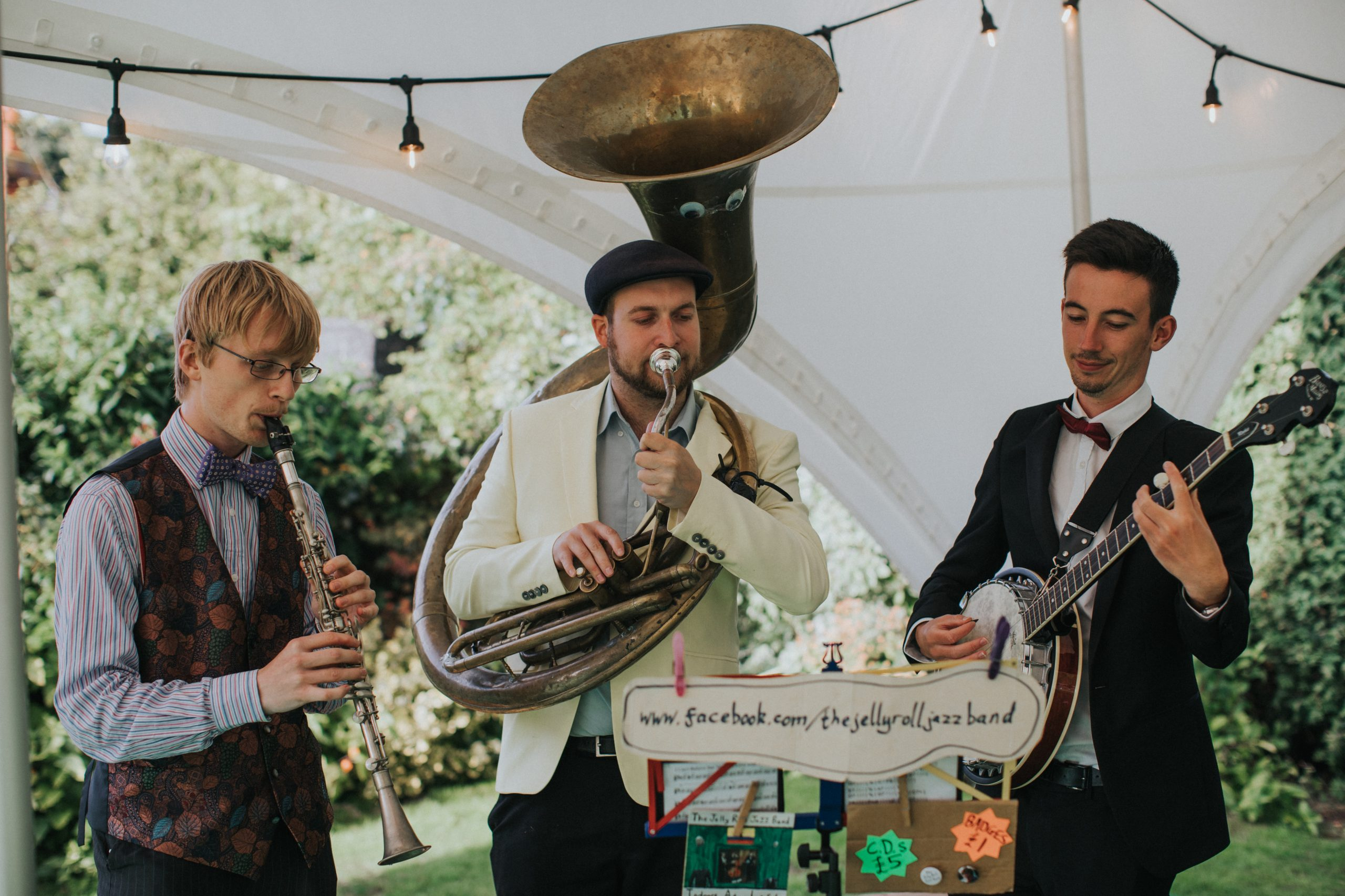 The Jelly Roll Jazz Band performing at a wedding reception in Rous Lench, August 2018 (3)