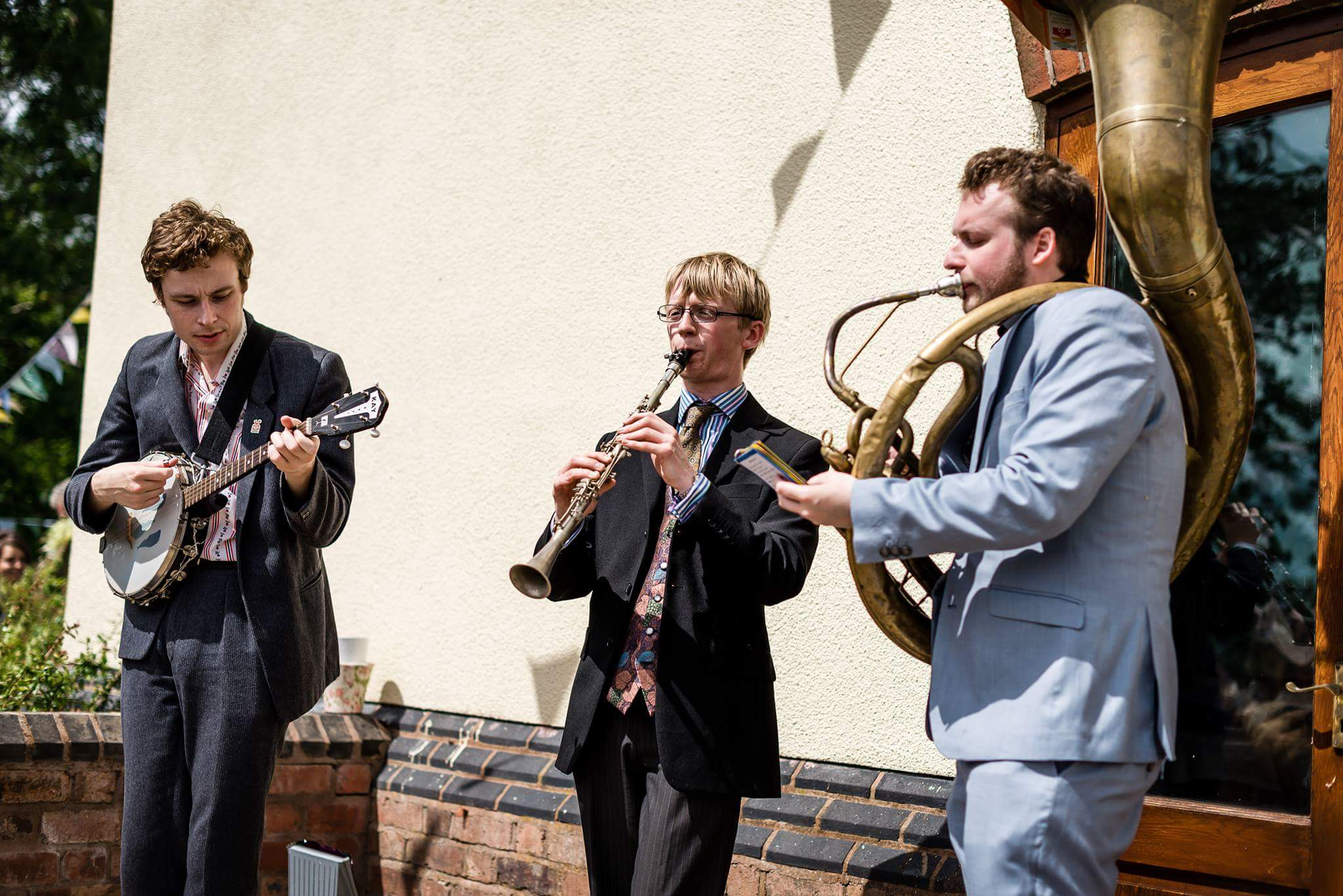 The Jelly Roll Jazz Band performing at a wedding reception in Stafford, July 2017 (3)
