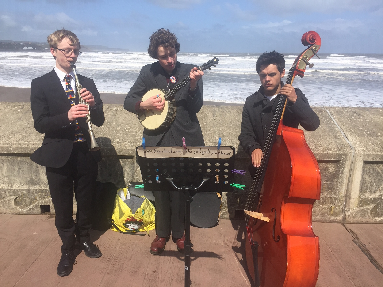 The Jelly Roll Jazz Band performing for The Tour de Yorkshire on Scarborough sea front, May 2019